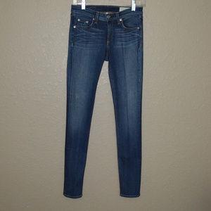 Sz 26 Rag & Bone Blue Preston Skinny Jeans